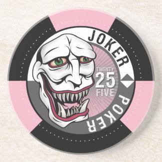 Joker Poker Pink/Gray Beverage Coasters
