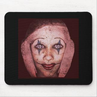 Joker Raggedy-Ann Clown With Swirly Eyes Mouse Pad