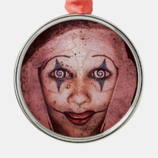 Joker Raggedy-Ann Clown With Swirly Eyes Christmas Ornament