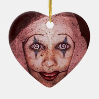 Joker Raggedy-Ann Clown With Swirly Eyes Christmas Tree Ornament