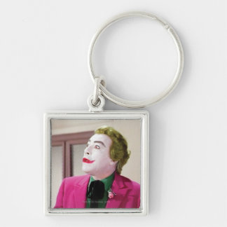 Joker - Shock 3 Silver-Colored Square Keychain