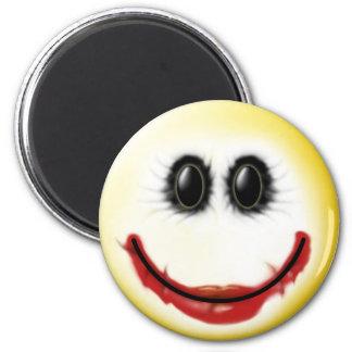 Joker Smiley Face 2 Inch Round Magnet