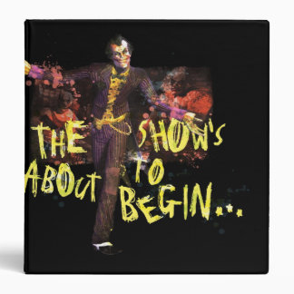 Joker - The Show's About To Begin� Binder