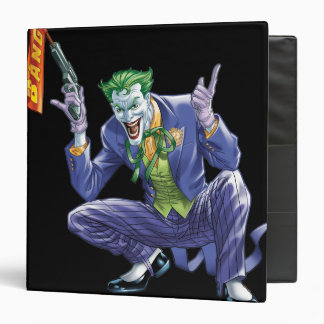 Joker with fake gun 3 ring binder