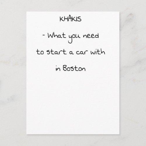 Jokes from Boston Postcard