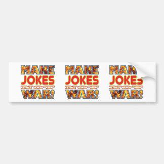 Jokes Make X Bumper Sticker