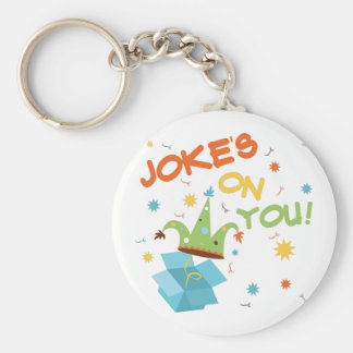 Jokes On You Basic Round Button Keychain