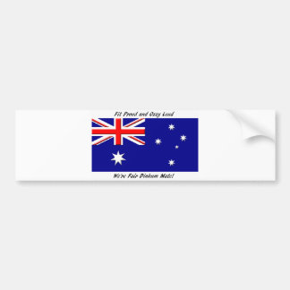 Jokey Australian Flag Bumper Sticker