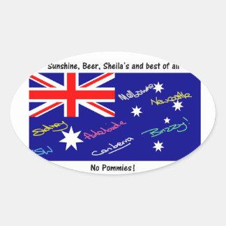 Jokey Australian Flag Oval Sticker