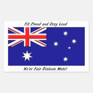 Jokey Australian Flag Rectangular Sticker