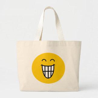 Joking around Smiley face Canvas Bag