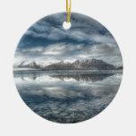 Jokulsarlon glacial lagoon, Iceland Double-Sided Ceramic Round Christmas Ornament