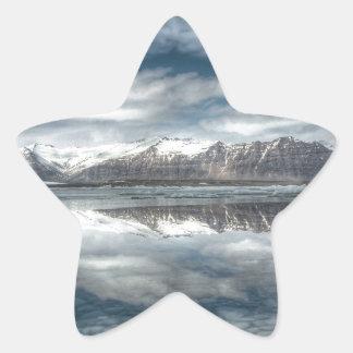 Jokulsarlon glacial lagoon Iceland Star Stickers