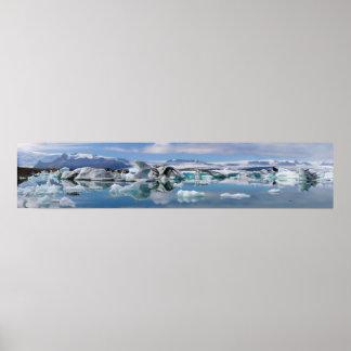Jokulsarlon Glacial Lake in Iceland Panorama Poster