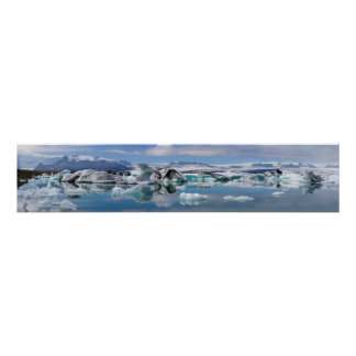 Jokulsarlon Glacial Lake in Iceland Panorama Posters