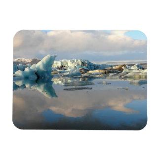 Jokulsarlon iceberg lake reflection rectangular photo magnet