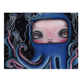 Jolenta Octopus Girl Postcard