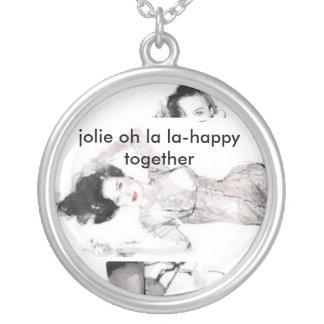 jolie oh la la - happy together round pendant necklace