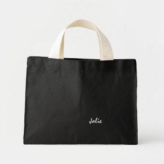 Jolie's black and white tote bag
