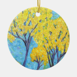 Jolie's yellow Tree Christmas Tree Ornament
