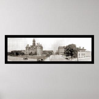 Joliet IL Courthouse Photo 1914 Print