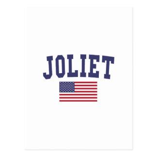 Joliet US Flag Postcard