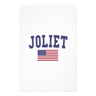 Joliet US Flag Stationery