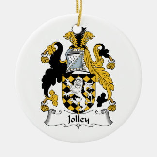 Jolley Family Crest Christmas Ornament