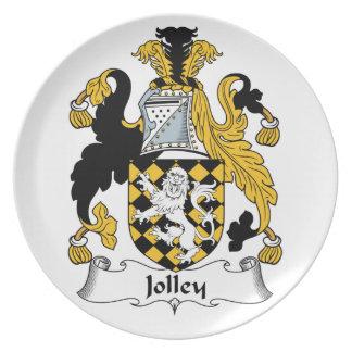 Jolley Family Crest Dinner Plates