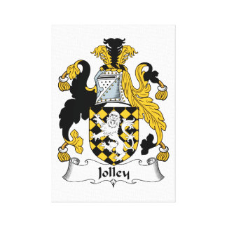 Jolley Family Crest Gallery Wrap Canvas