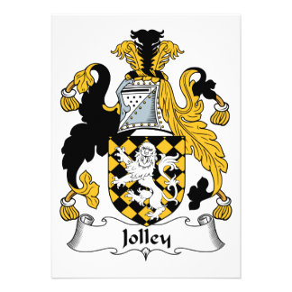 Jolley Family Crest Personalized Invite