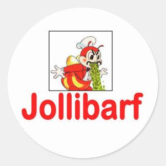 Jollibarf Classic Round Sticker