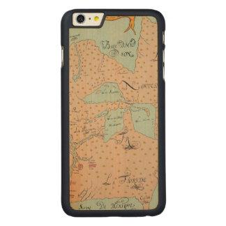JOLLIET: NORTH AMERICA 1674 CARVED® MAPLE iPhone 6 PLUS SLIM CASE