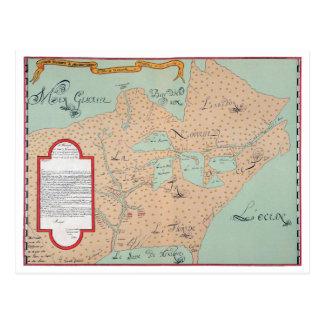 JOLLIET: NORTH AMERICA 1674 POSTCARD