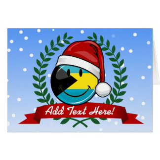 Jolly Bahamas Flag Christmas Style Card