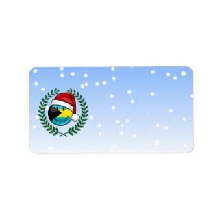 Jolly Bahamas Flag Christmas Style Label
