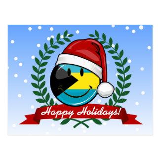 Jolly Bahamas Flag Christmas Style Postcard