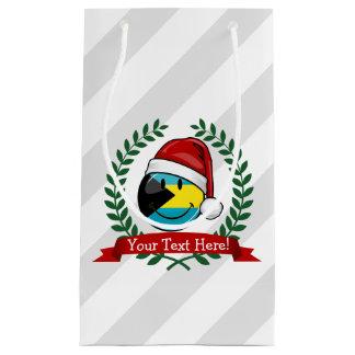 Jolly Bahamas Flag Christmas Style Small Gift Bag