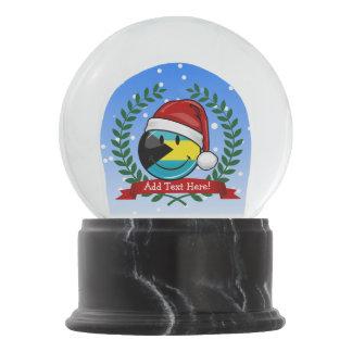 Jolly Bahamas Flag Christmas Style Snow Globe