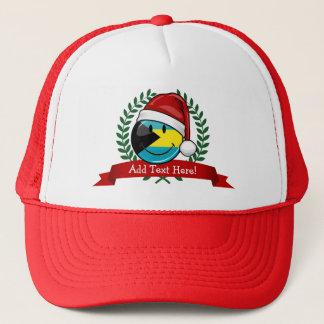 Jolly Bahamas Flag Christmas Style Trucker Hat