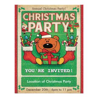 Jolly Bear Christmas Party Flyer