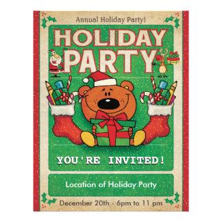 Jolly Bear Holiday Party Flyer