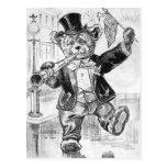 Jolly Bear Jerry - Letter J - Vintage Teddy Bear Postcard