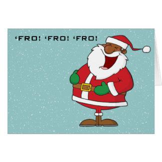 Jolly Black Saint Nicholas 2 Card
