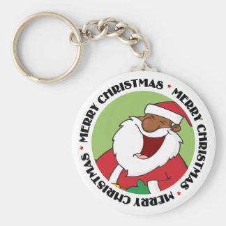 Jolly Black Saint Nicholas 2 Keychain