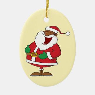Jolly Black Saint Nicholas 2 Christmas Tree Ornaments