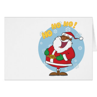 Jolly Black Saint Nicholas Stationery Note Card
