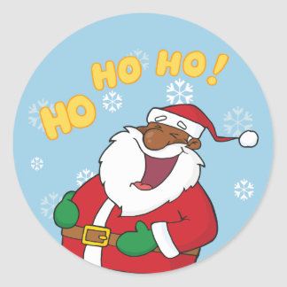 Jolly Black Saint Nicholas Stickers