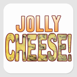 Jolly Blue Cheese Square Sticker