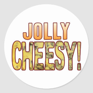 Jolly Blue Cheesy Classic Round Sticker